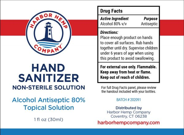 Harbor Hemp hand sanitizer