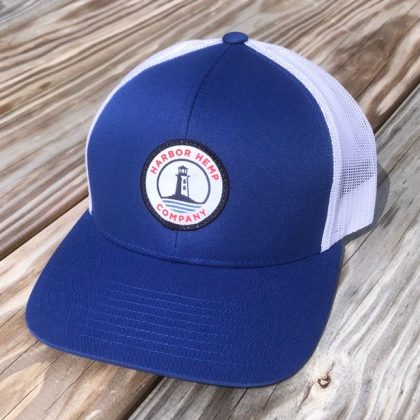 Harbor Hemp blue and white hat